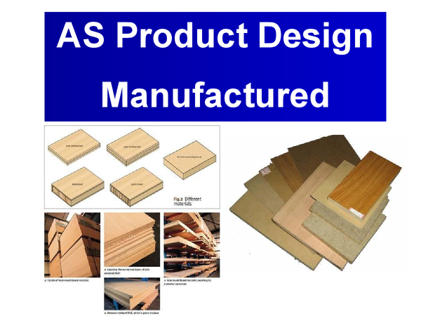 Preview of Manufactured Boards (Powerpoint) - Product Design AS Level.