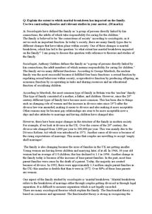 Preview of marital breakdown essay