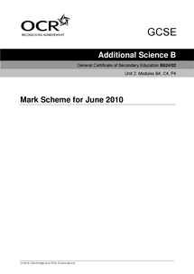 Preview of Mark Scheme 9th June