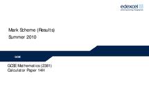 Preview of mark scheme june 2010