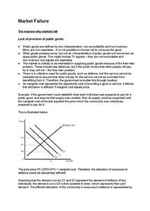 Preview of Market Failure - A2 Economics