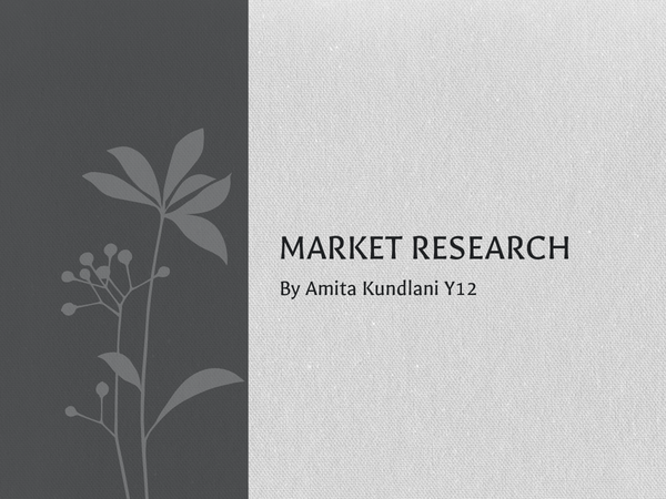 Preview of Market Research presentation