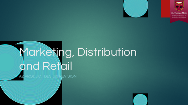 Preview of Marketing, Distibution and Retail