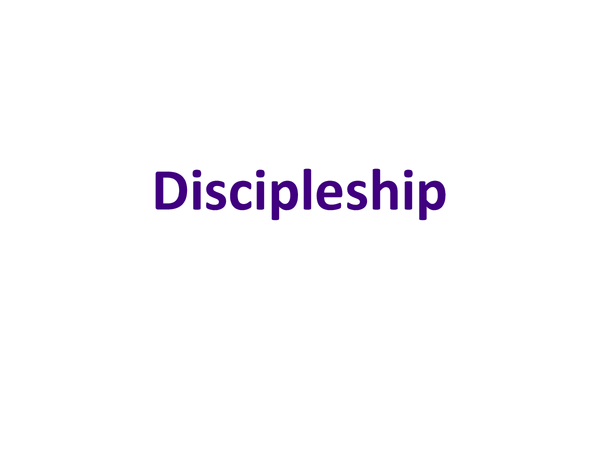 Preview of Marks Gospel Topic 6 - Discipleship