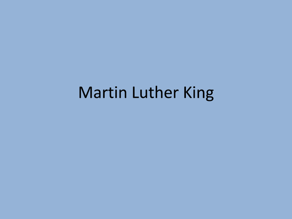 Preview of Martin Luther King