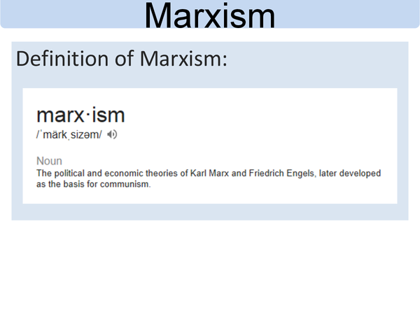 Preview of Marxism