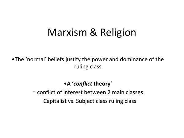Preview of Marxism and Religion