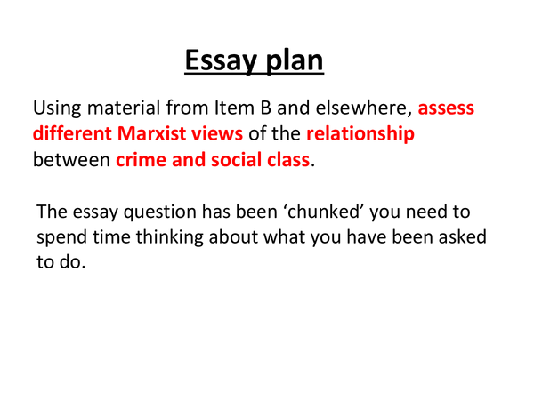 Preview of Marxism crime essay plan