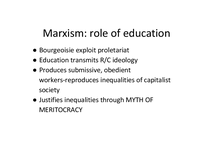 Preview of Marxism-role of education