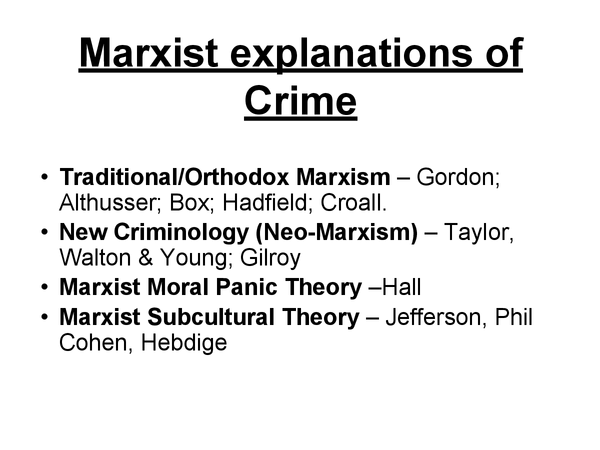 Preview of Marxist Explainations of Crime