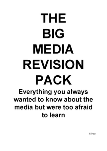 Preview of Mass Media revision Pack