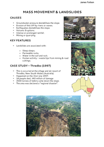 Preview of Mass Movement & Landslides