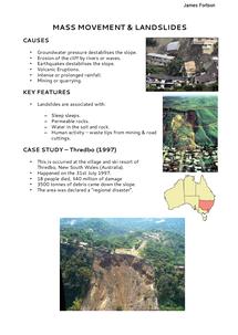 Preview of Mass Movement & Landslides