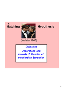 Preview of Matching hypothesis