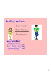 matching hypthesis