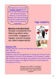 matching hypothesis The matching hypothesis in social psychology claims that people are more likely to form a committed relationship with someone equally attractive previous works on.