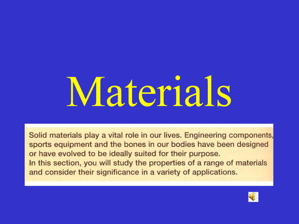Preview of Materials Powerpoint