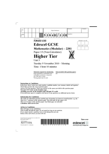 maths edexcel unit 3 past papers document in gcse. Black Bedroom Furniture Sets. Home Design Ideas