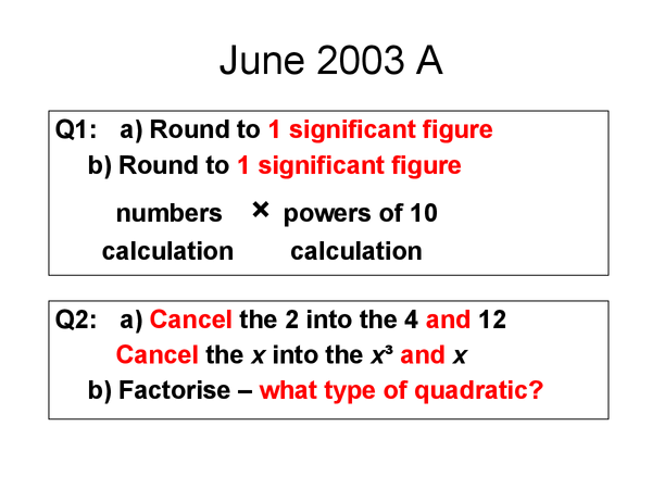 Preview of Maths Questions - How to...