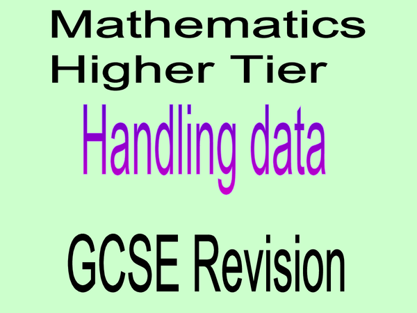 Preview of Maths revsion