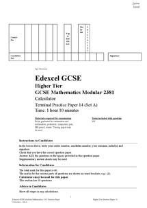 Preview of Maths Unit 3 Edexcel Past Paper