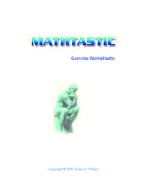 Preview of Maths Work Sheet