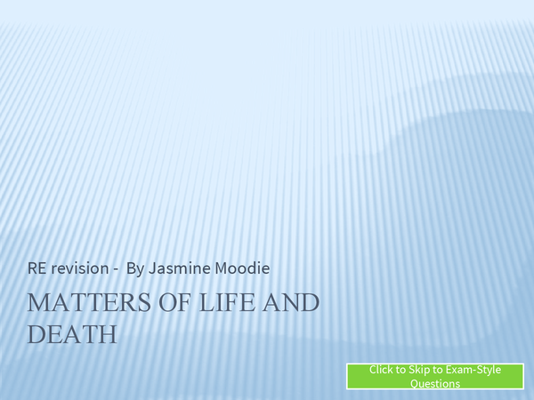 Preview of Matters of Life and Death