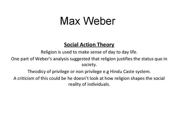 Preview of Max Weber