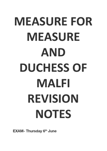 Preview of Measure For Measure and Duchess Of Malfi Revision guide