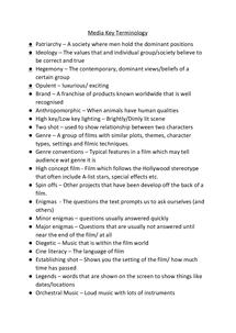 Preview of Media Studies Terminology