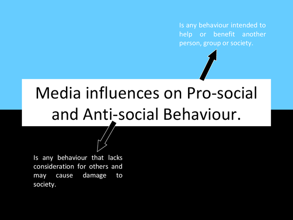 Preview of Media influences on Pro-social and Anti-social Behaviour.