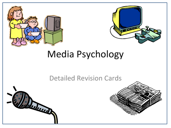 Preview of Media Psychology Revision Cards (Whole Section)