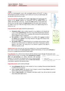 Preview of Medical physics, OCR- Unit 5, module 4