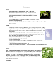 Preview of Medicinal Plants