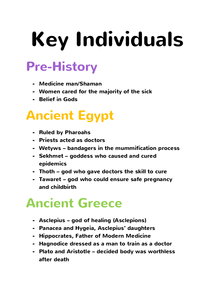 Preview of Medicine Through Time - Key Individuals