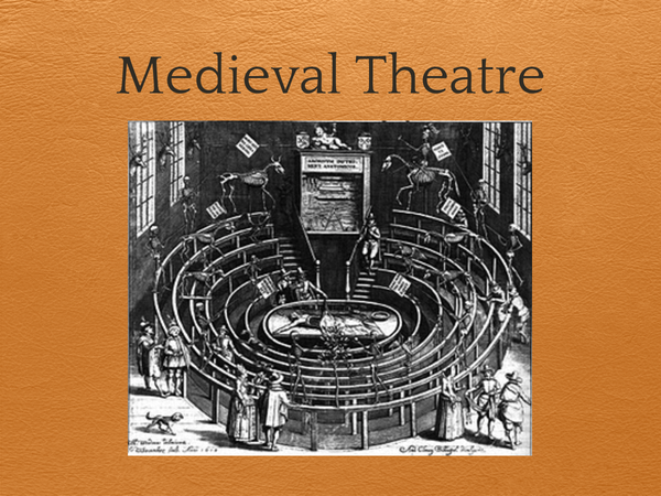 Preview of Medieval Theatre (PowerPoint)