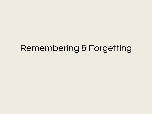 Preview of Memory & Forgetting