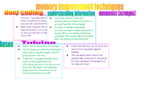 Preview of memory improvment techniques and supporting studies