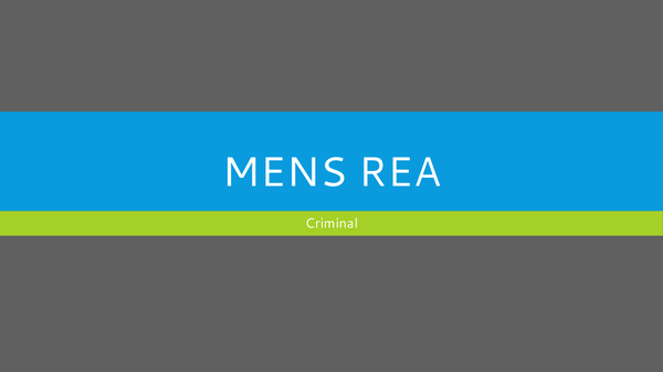 Preview of Mens Rea