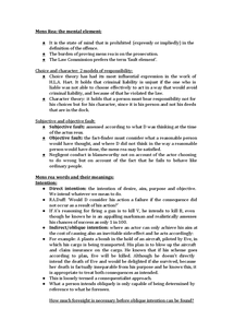 Preview of Mens rea revision - Criminal Law