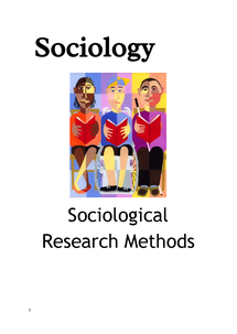 Preview of Methodology and Sociological Research Methods