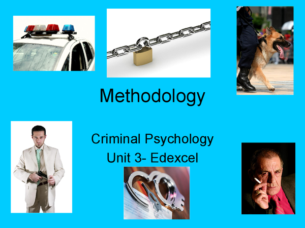 Preview of Methodology: Criminal Psychology