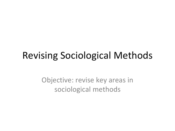 Preview of Methods In Context AS Sociology
