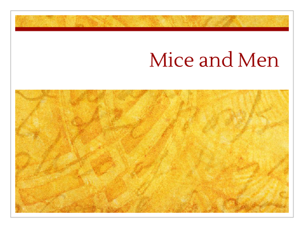 Preview of Mice and Men Characters