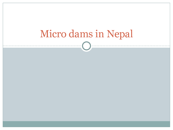 Preview of Micro Dams in Nepal