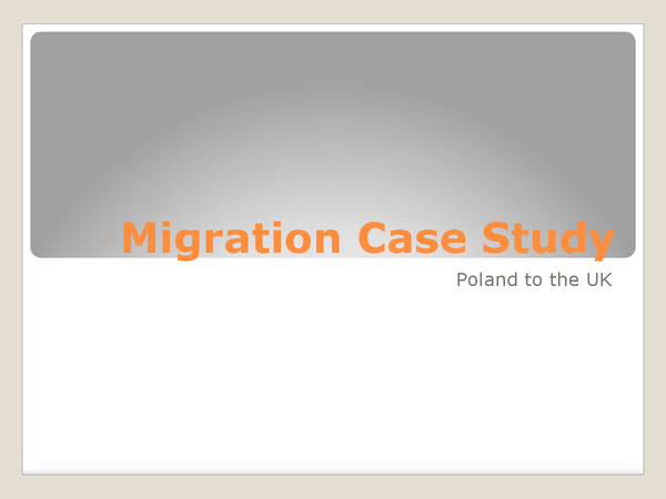 Preview of Migration Case Study Poland to UK