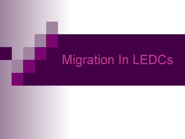 Preview of Migration In LEDCs