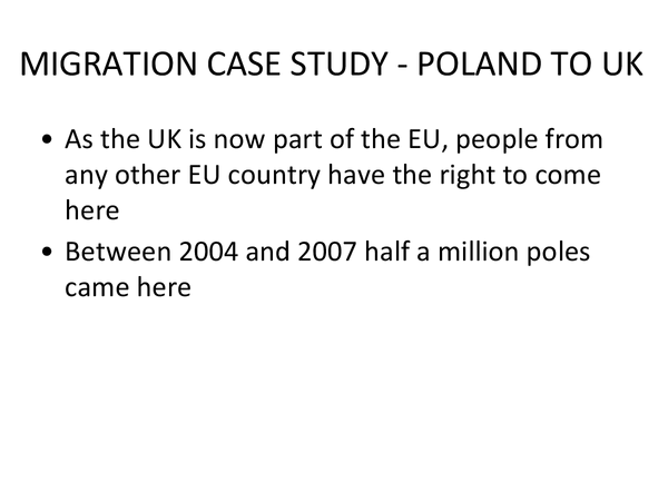 Preview of Migration - poland to the UK - a case study