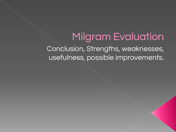 Preview of Milgram Core Studies Evaluation Powerpoint