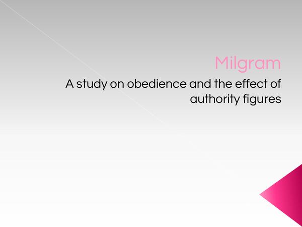 Preview of Milgram Core Studies Powerpoint